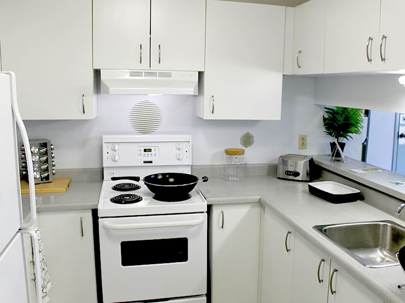 Fully-Furnished Student Housing Kitchen